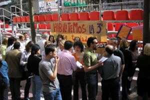 Concentración de CGT Murcia en la Agencia Tributaria de Murcia «Suelo público para uso público»