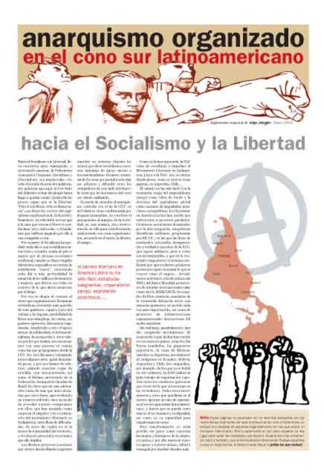 Anarquismo organizado en el Cono Sur latinoamericano