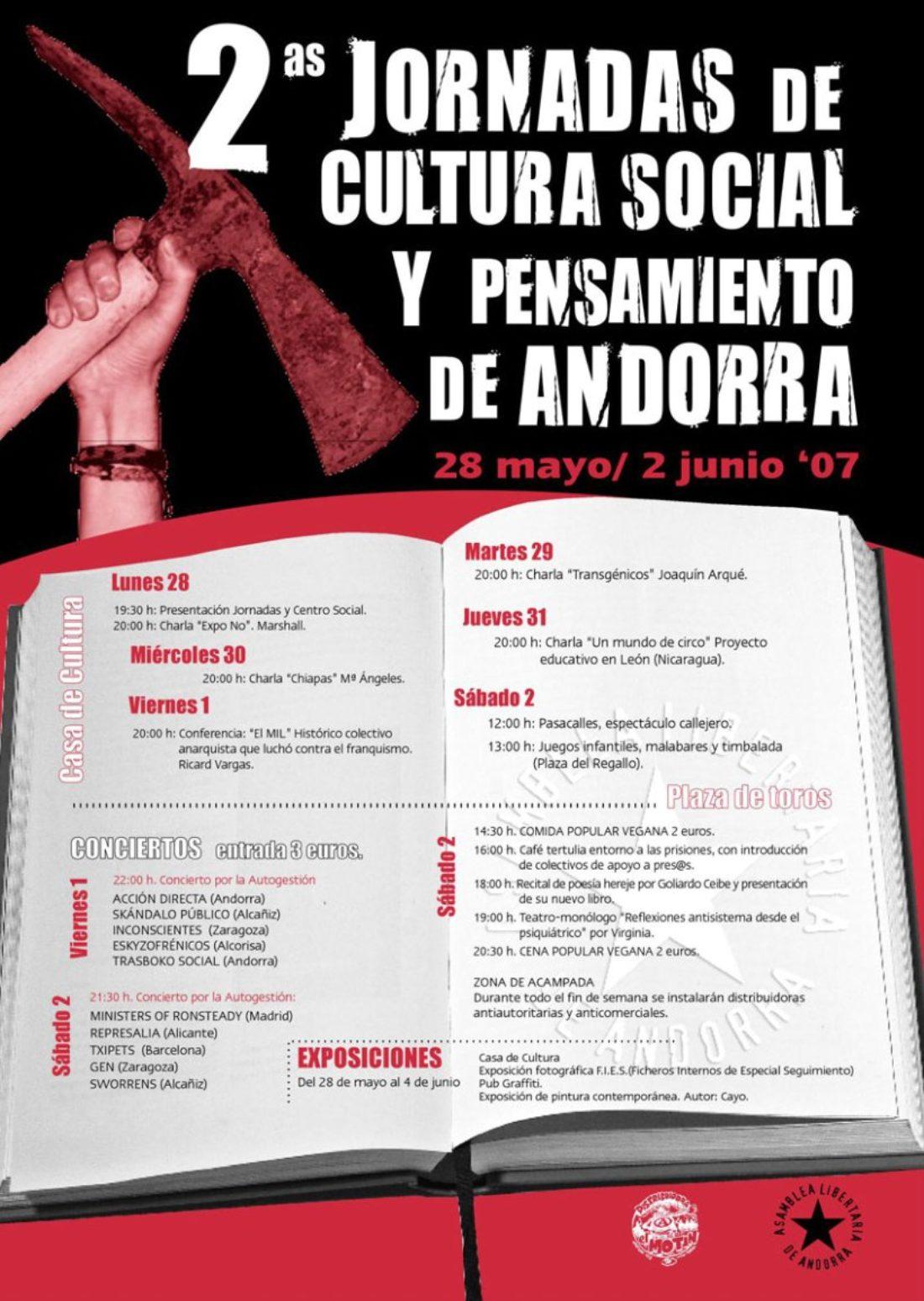 II Jornadas de Cultura Social y Pensamiento en Andorra (Teruel)