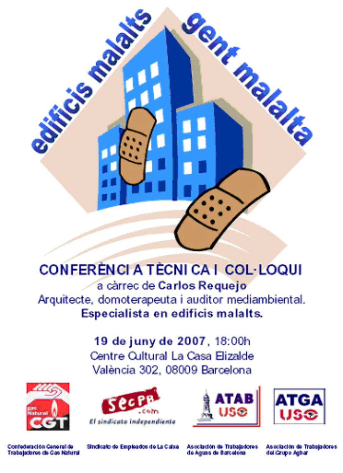 Barcelona: conferencia sobre edificios enfermos