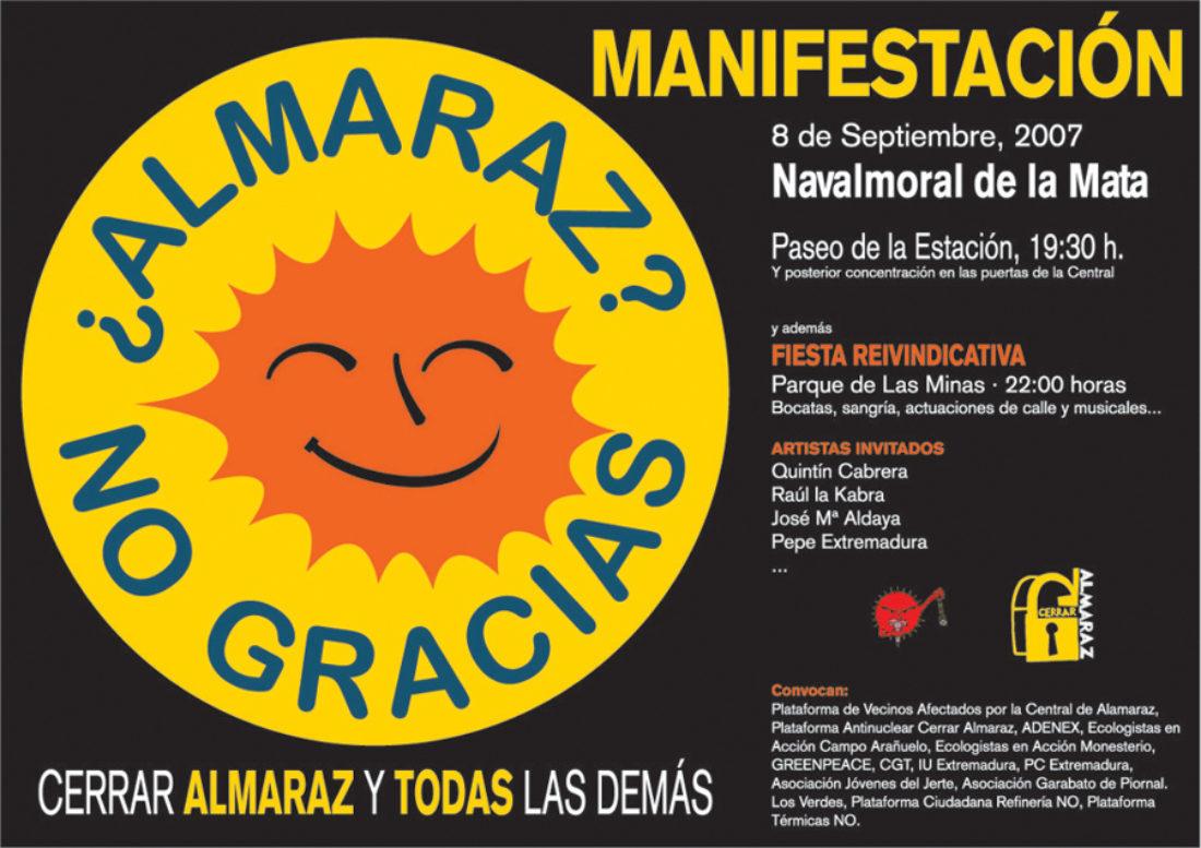 8 de septiembre: ¡Cerrar Almaraz!
