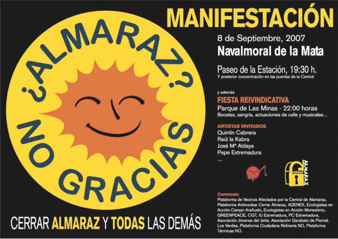 El 8 de septiembre, por una Extremadura sin nucleares
