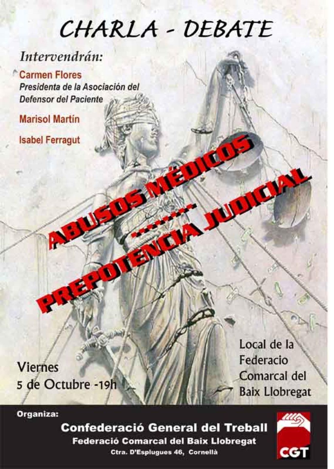 Charla – debate abusos médicos, prepotencia judicial
