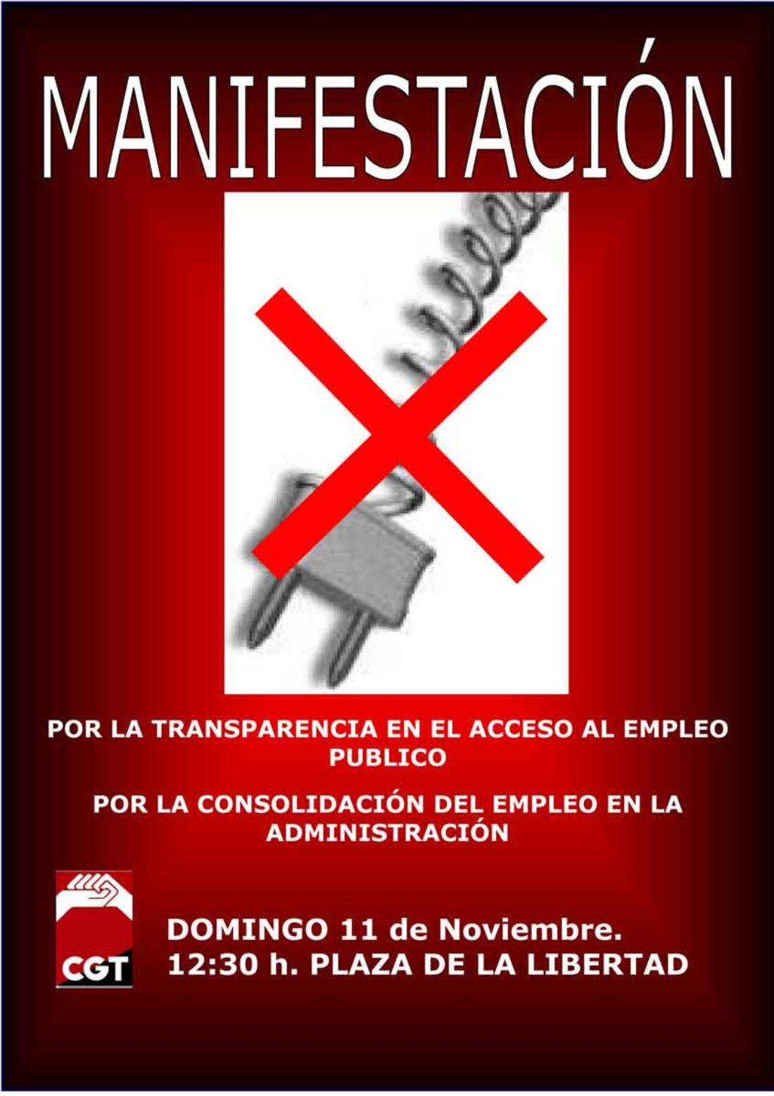 CGT convoca manifestación en Valladolid por el empleo público
