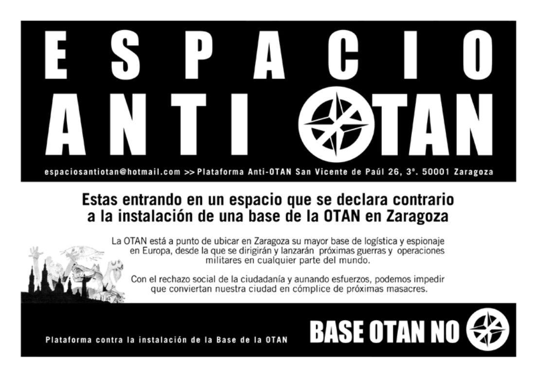 Presentación de la campaña «Espacios anti OTAN»