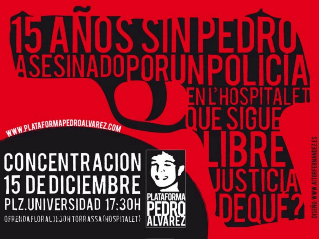 15 de diciembre. Hospitalet: concentración en solidaridad con Pedro Álvarez