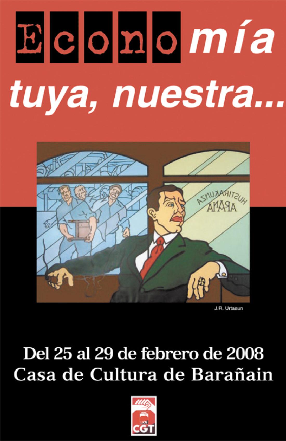 25-29 de febrero, CGT Iruñea: jornadas sobre economía