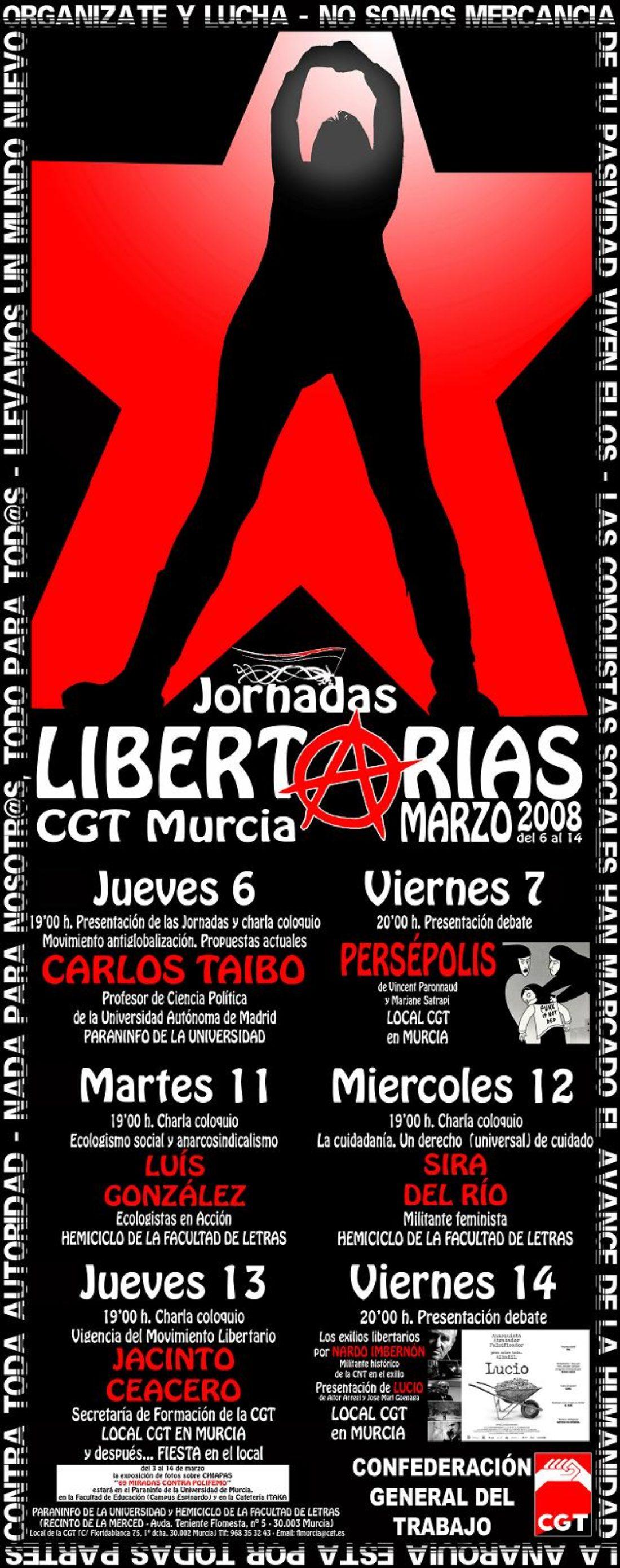 Jornadas Libertarias de CGT Murcia del 6 al 14 de marzo
