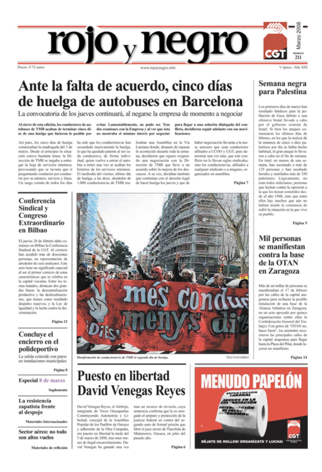 Rojo y Negro 211 – marzo 2008