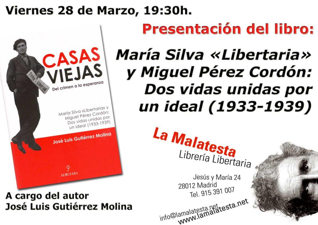 Madrid: presentación del libro «Casas viejas. Del crimen a la esperanza»