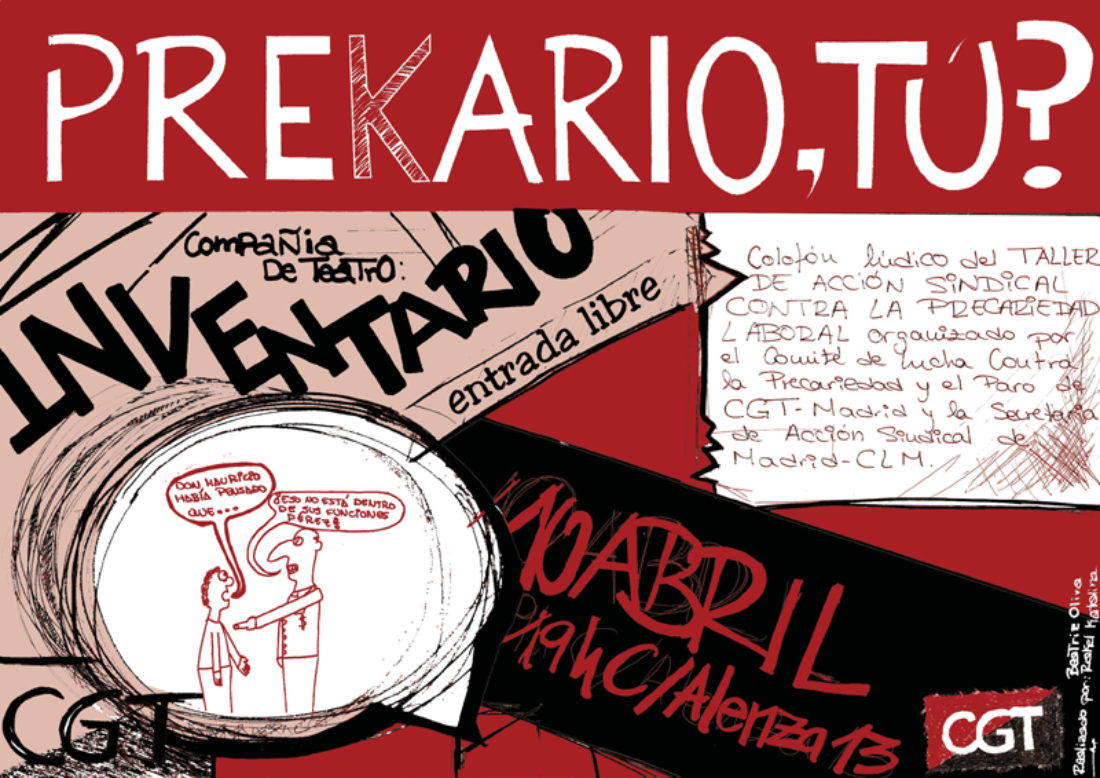 Madrid: Taller de Acción Sindical contra la Precariedad Laboral