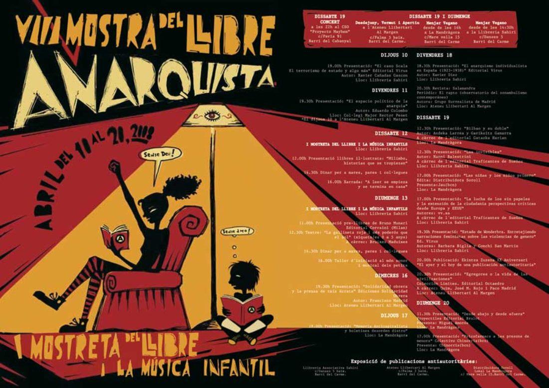 Programa: Feria del Libro Anarquista de València.