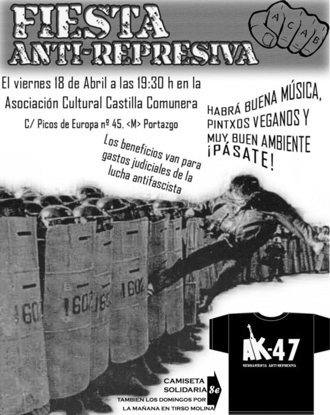 Vallekas, viernes 18 de abril: fiesta antirrepresiva