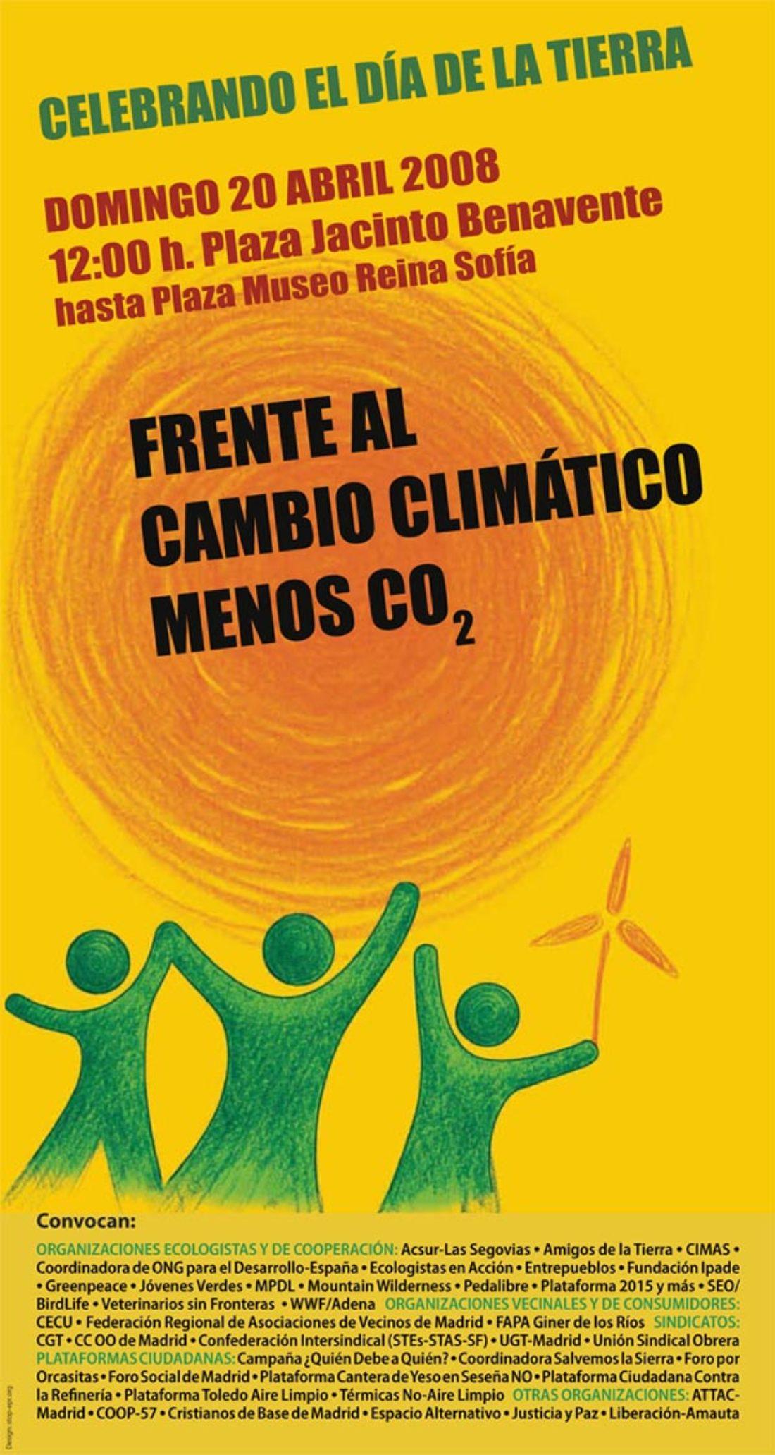 Madrid: manifestación el domingo 20 de abril – Día de la Tierra