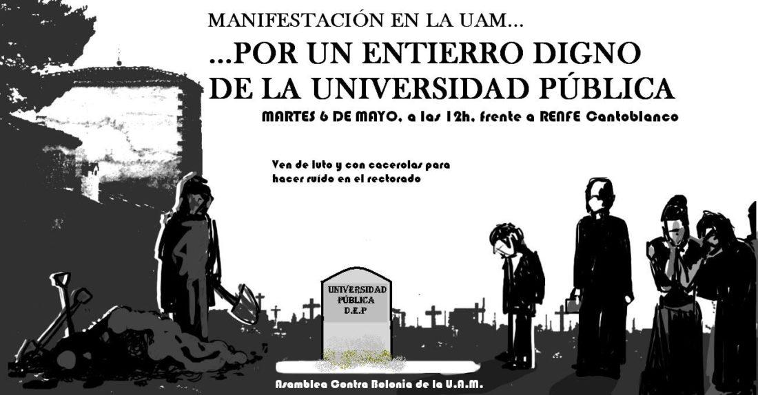 Madrid: manifestación por el entierro de la universidad pública