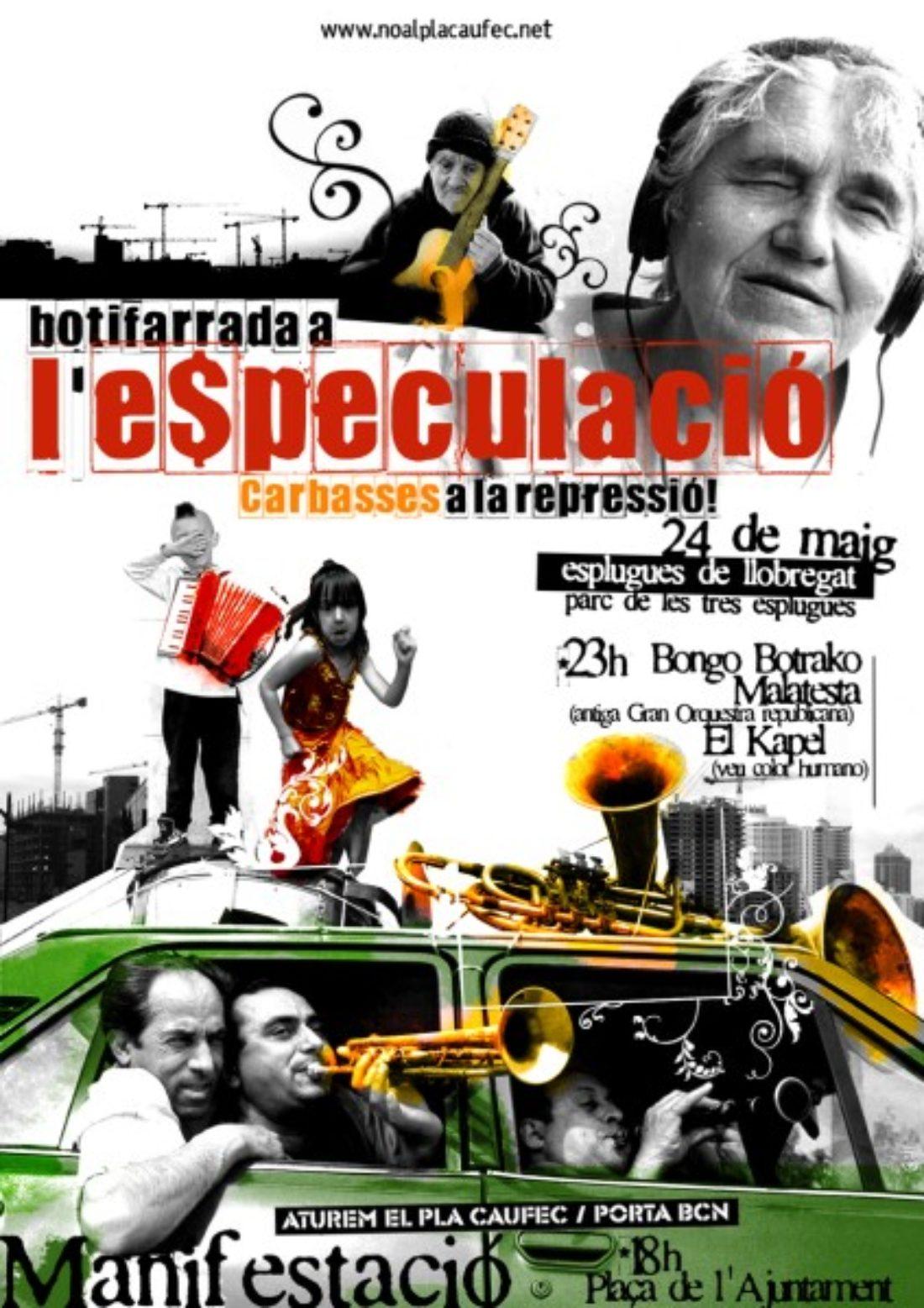 Esplugues de Llobregat, 24 maig: botifarrada popular a l'especulació