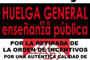 Andalucía, 21 de mayo: huelga general en la Enseñanza Pública
