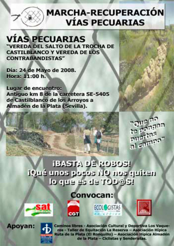 Sevilla: Marcha Recuperación Vías Pecuarias «Vereda del Salto de la Trocha de Castilblanco y Vereda de los Contrabandistas»