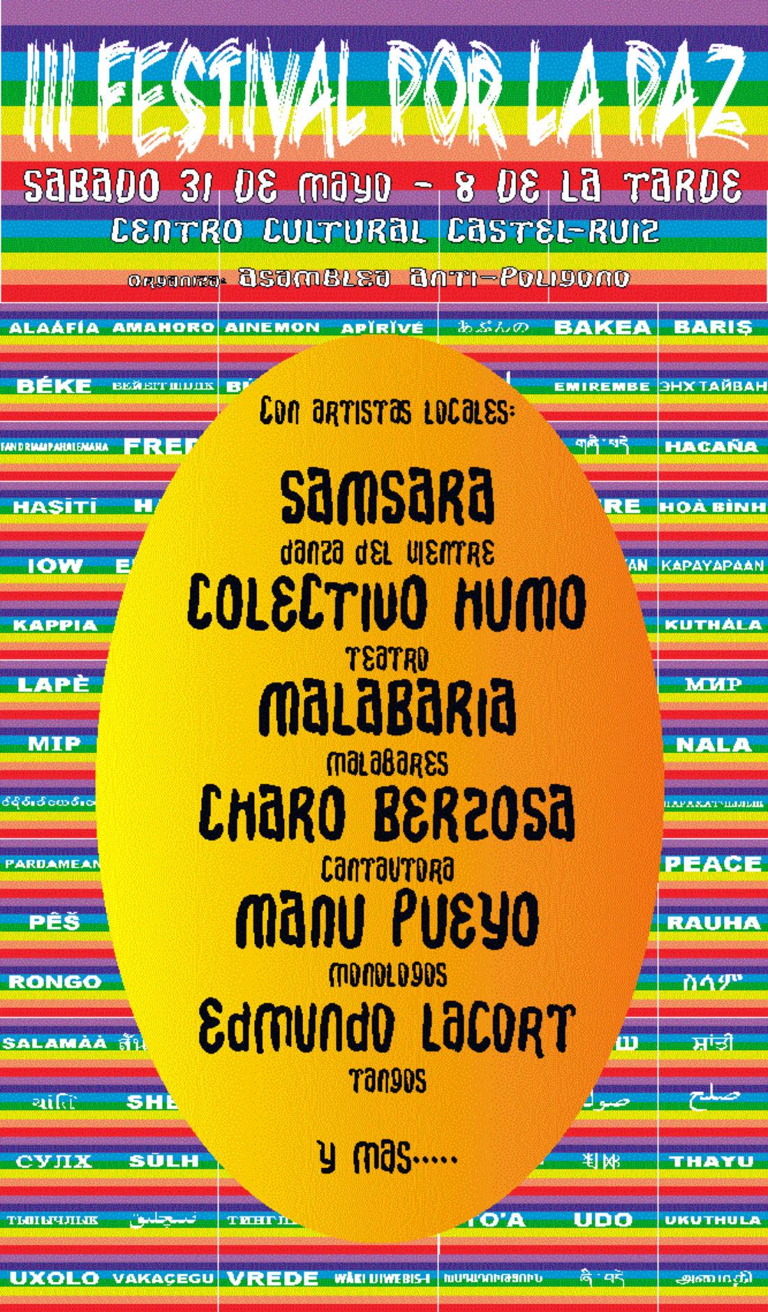 Tudela: III Festival por la Paz