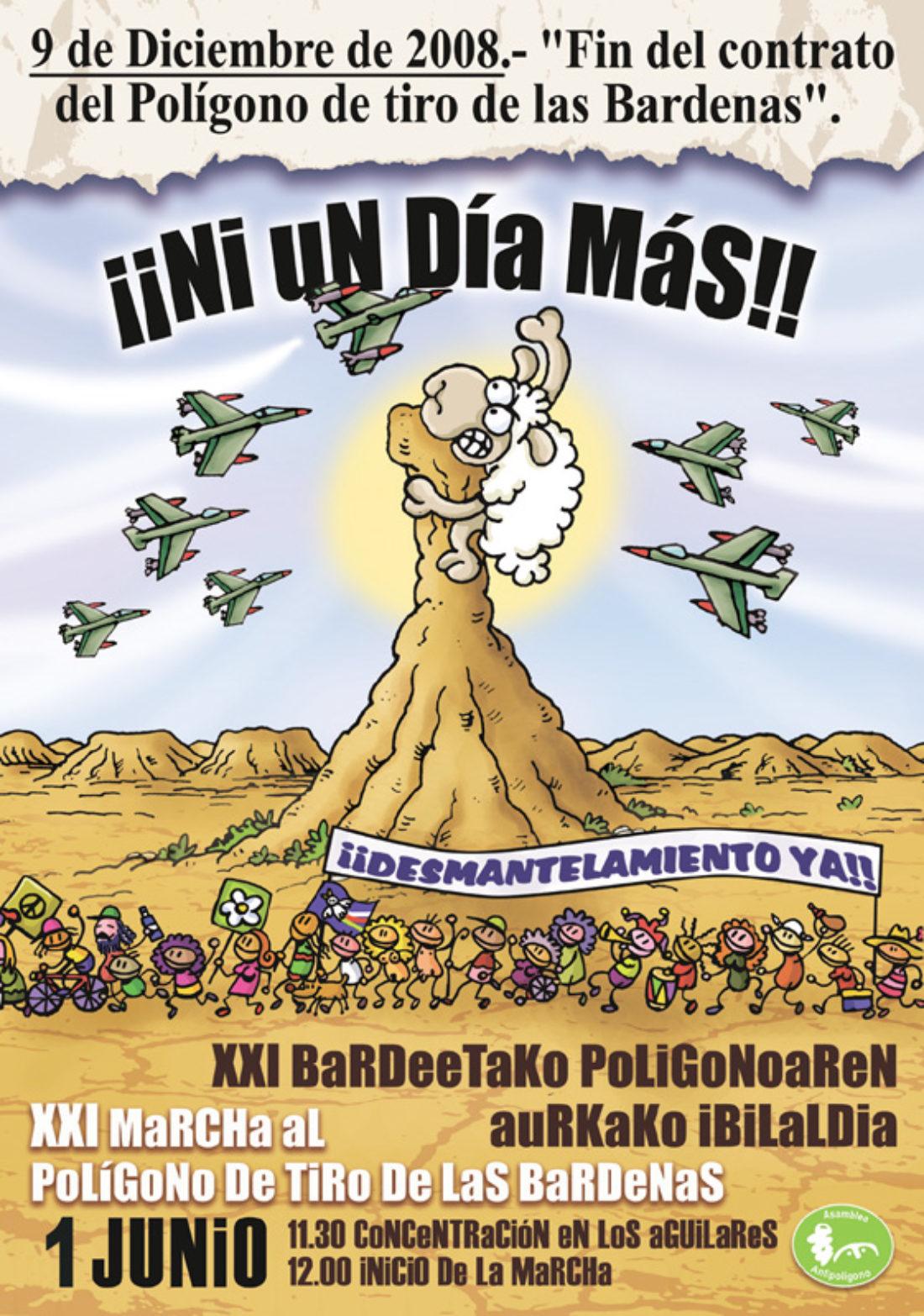 1 de junio: XXI marcha al polígono de tiro de Las Bardenas