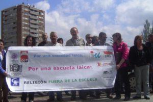 """Campaña """"Por una sociedad laica, por una escuela laica: religión fuera de la Escuela"""" en Castilla y León"""
