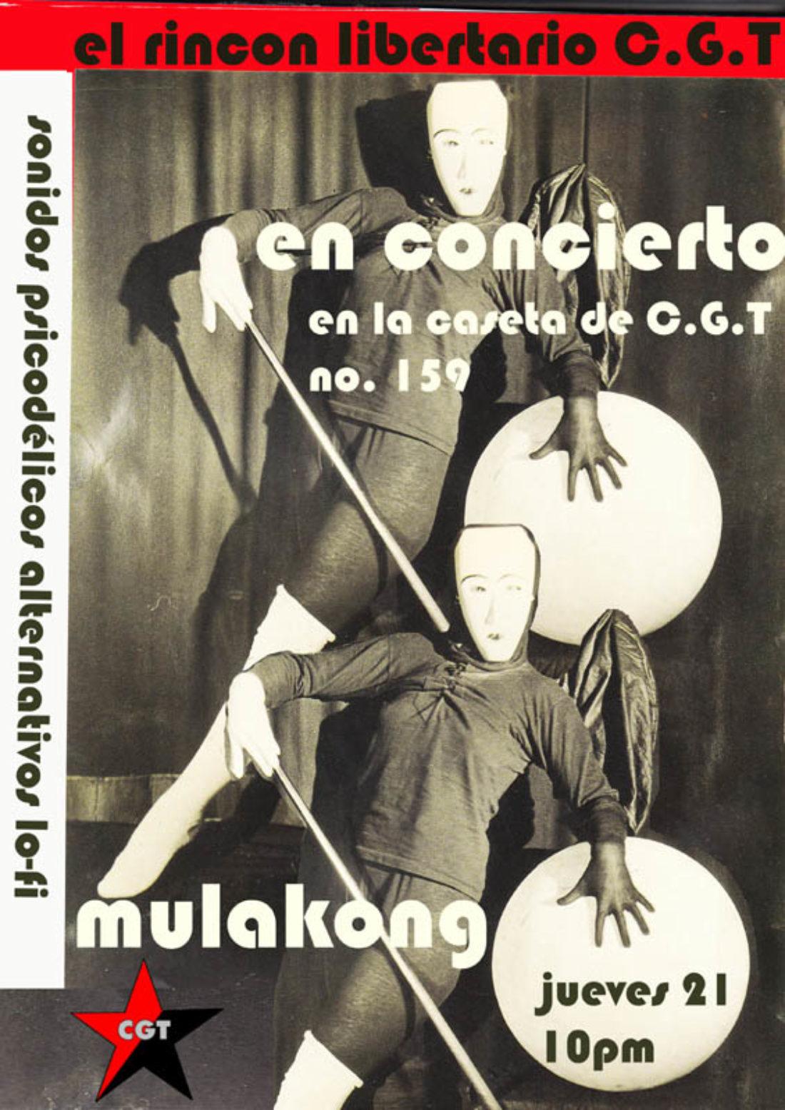 Málaga: concierto de MULAKONG en el RINCÓN LIBERTARIO, la caseta de CGT en la Feria