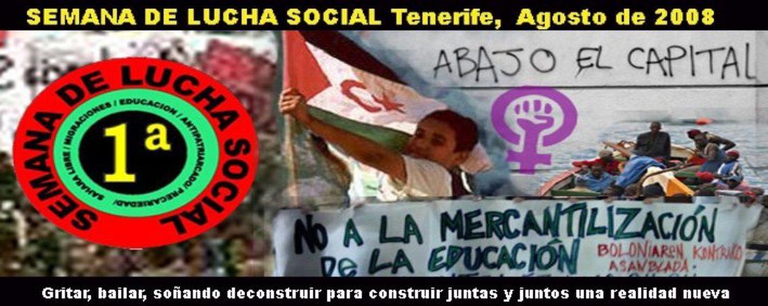 18-24 Agosto de 2008: Semana de Lucha Social en Tenerife