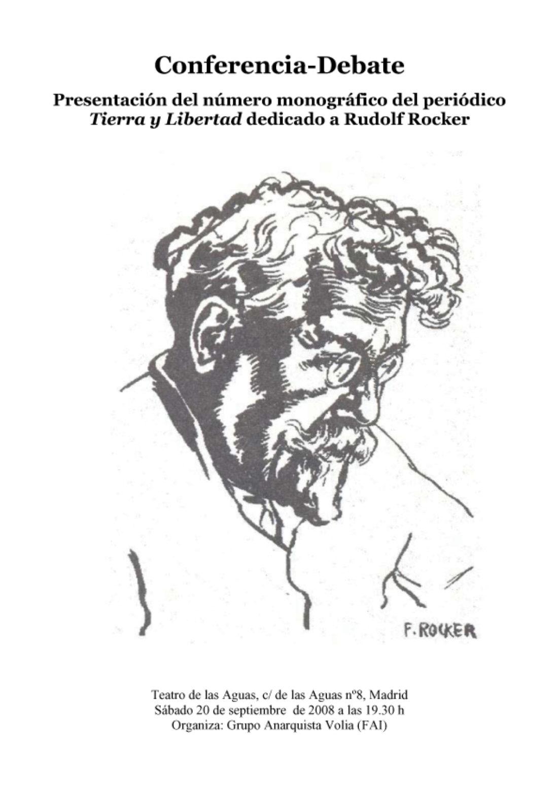 Madrid: Conferencia-Debate sobre Rudolf Rocker