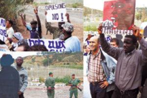 Caravana de protesta hacia la valla de Ceuta