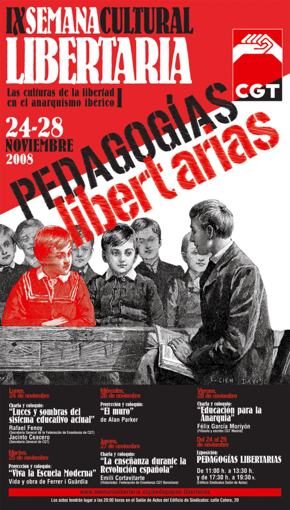 IX Semana Cultural Libertaria de Burgos: 24-28 de noviembre. «Pedagogías Libertarias»