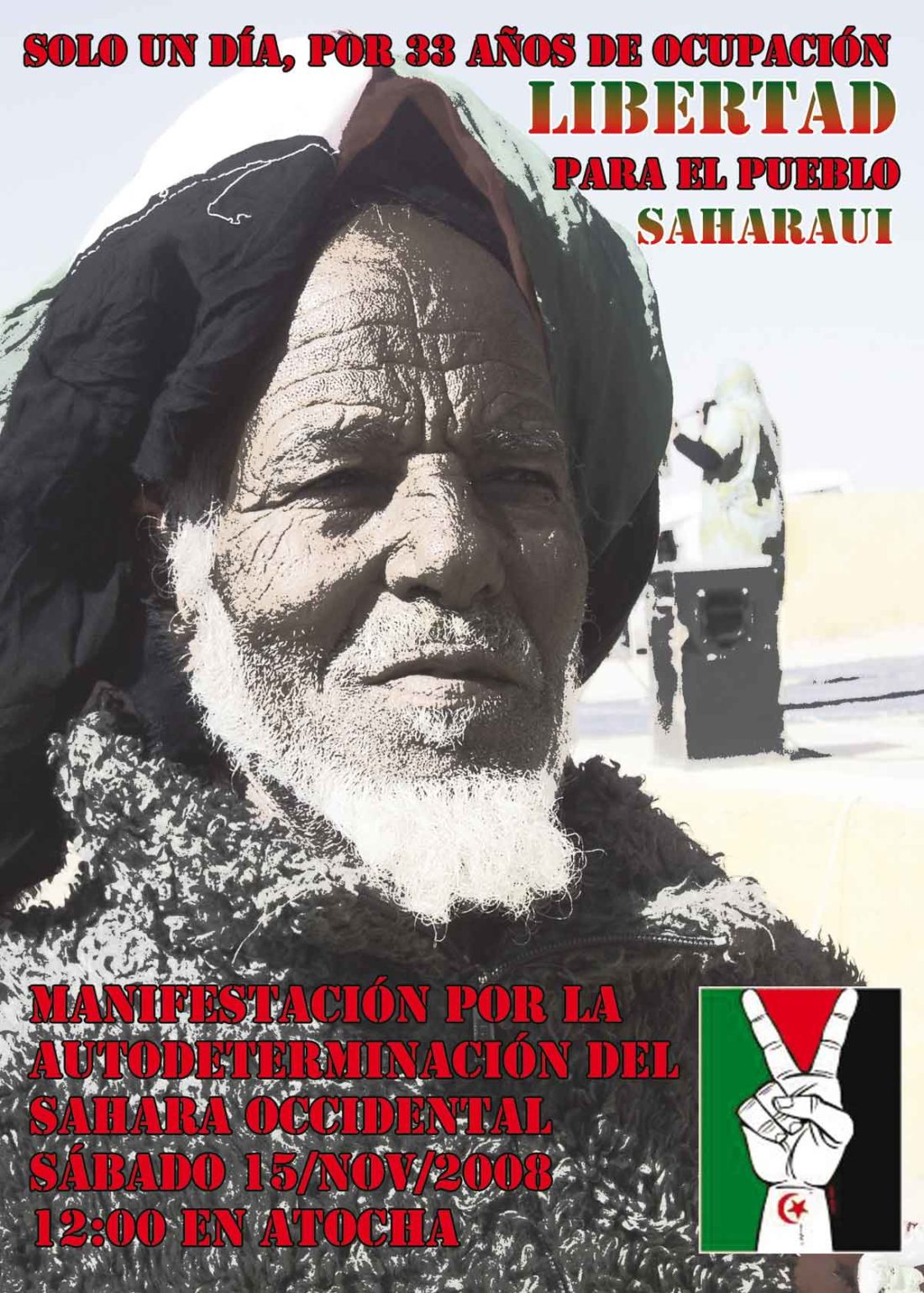 Manifestación por la autodeterminación del Sahara: 15 de noviembre en Madrid