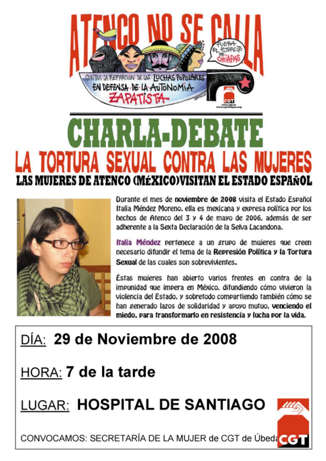 Actividades  que organiza la Secretaría de la Mujer de  la Federación Local de Úbeda  de la CGT para el 25 de noviembre