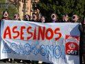 La CGT se concentra en Murcia para protestar por el asesinato del compañero Alexandros