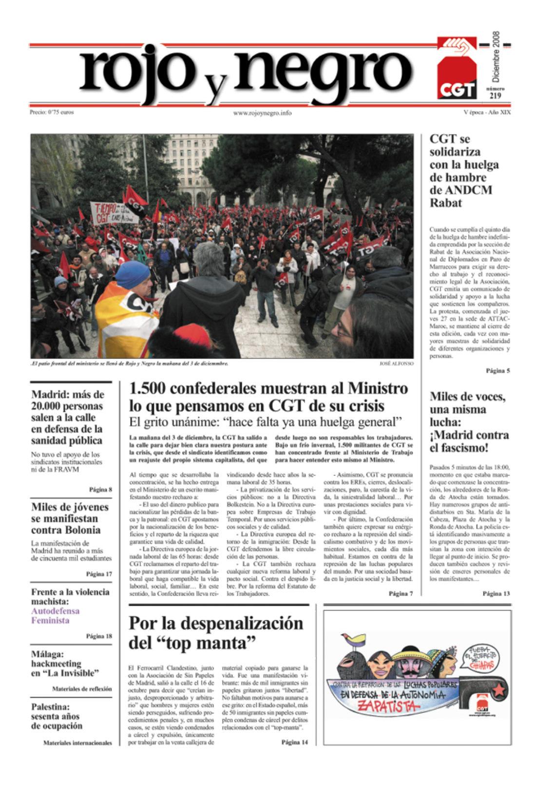 Rojo y Negro 219 – diciembre 2008