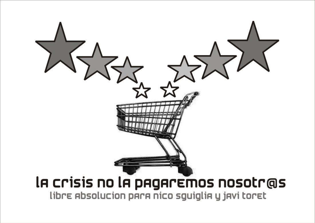 Concentración por la absolución de Nicolás Sguiglia (CGT) y Javier Toret (SOC-SAT)