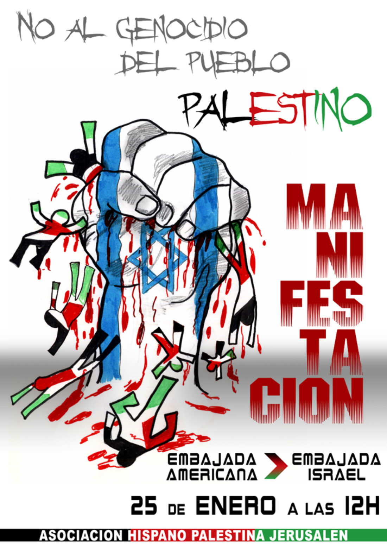Madrid: manifestación contra el genocidio en Palestina y por el fin de la ocupación. 25 de enero, a las 12,00 horas.