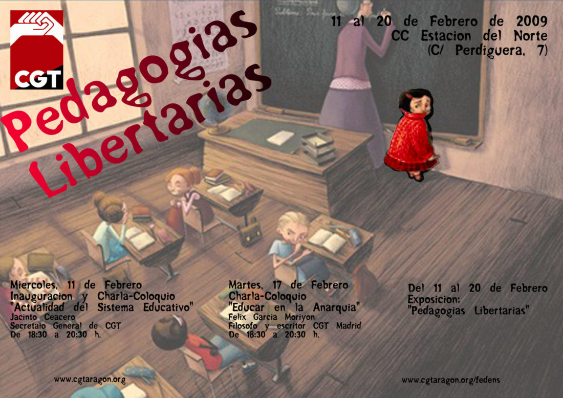 Exposición «Pedagogías Libertarias» en Zaragoza. 11 al 20 de febrero