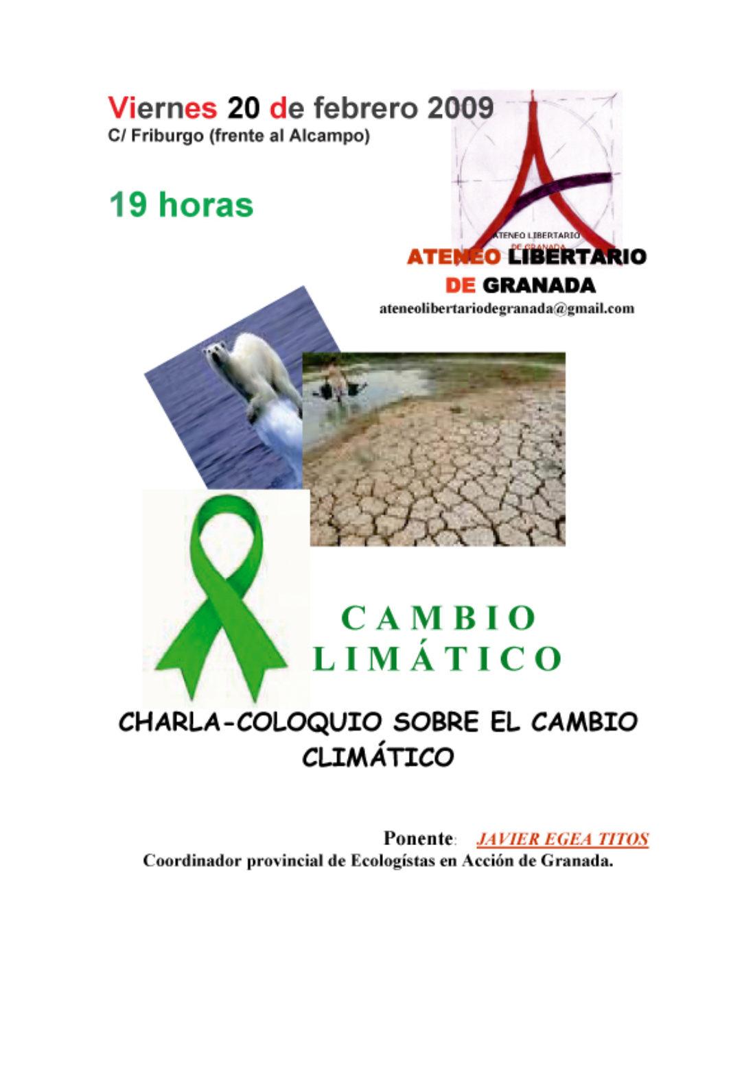 Ateneo Libertario de Granada: 20 de febrero, charla-coloquio sobre el cambio climático