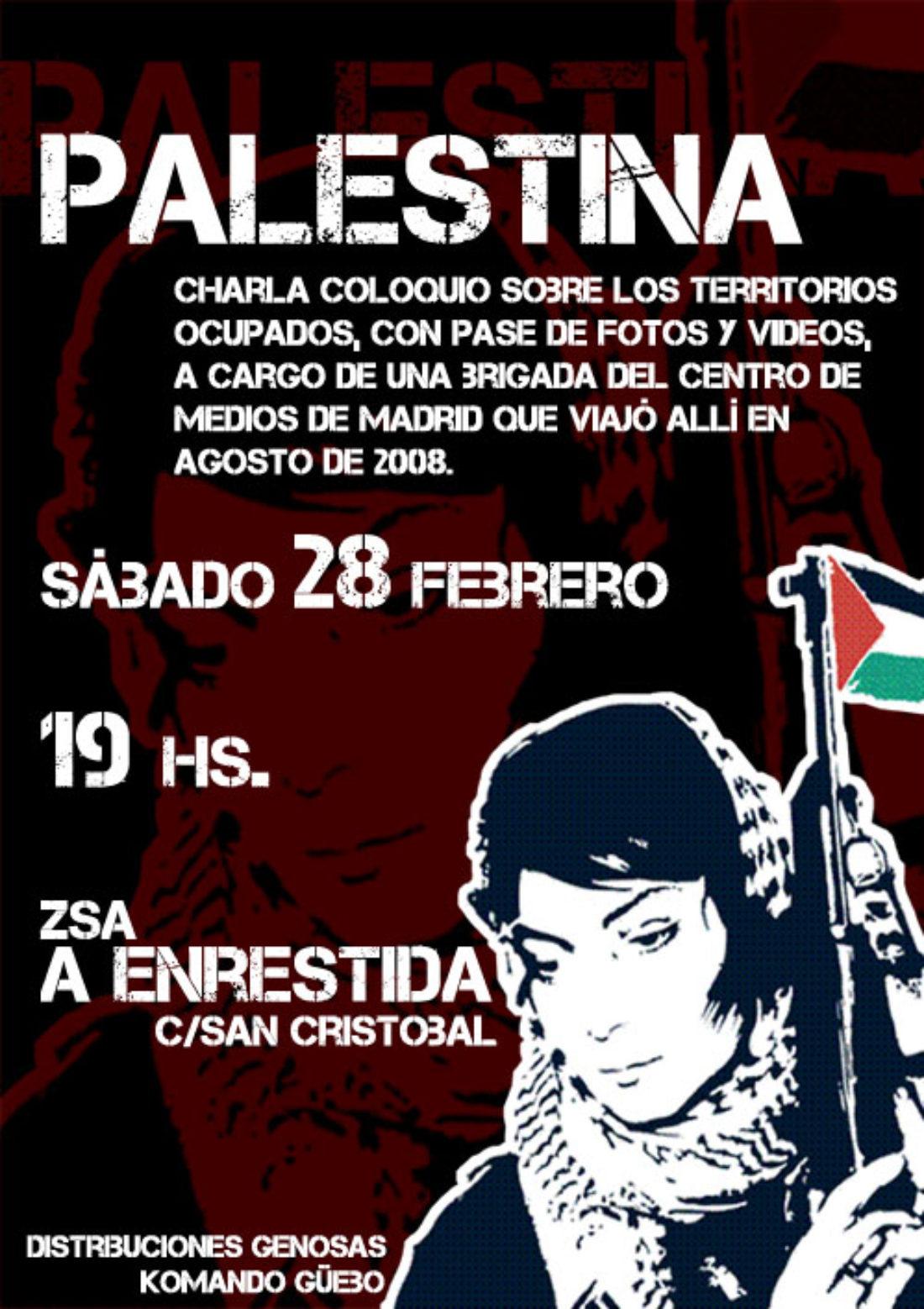 Zaragoza, 28 de febrero: Charla sobre Palestina