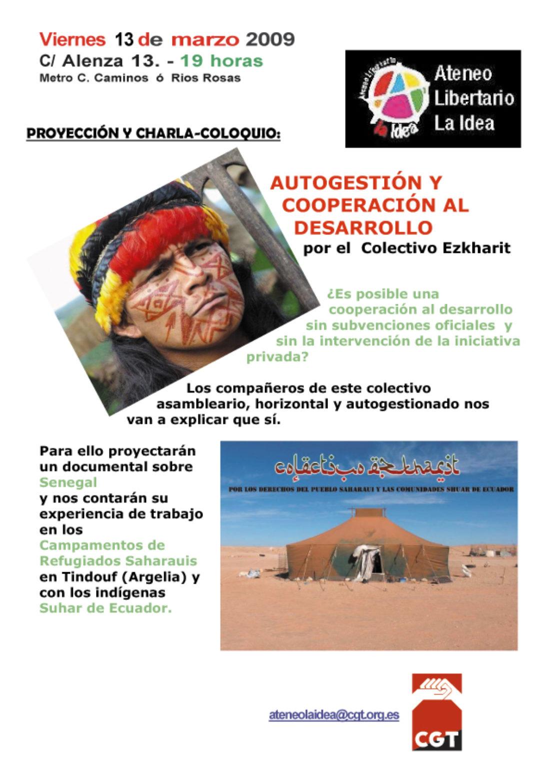 Ateneo Libertario «La Idea»- (CGT Madrid)  C/Alenza, 13. Bajo izq.