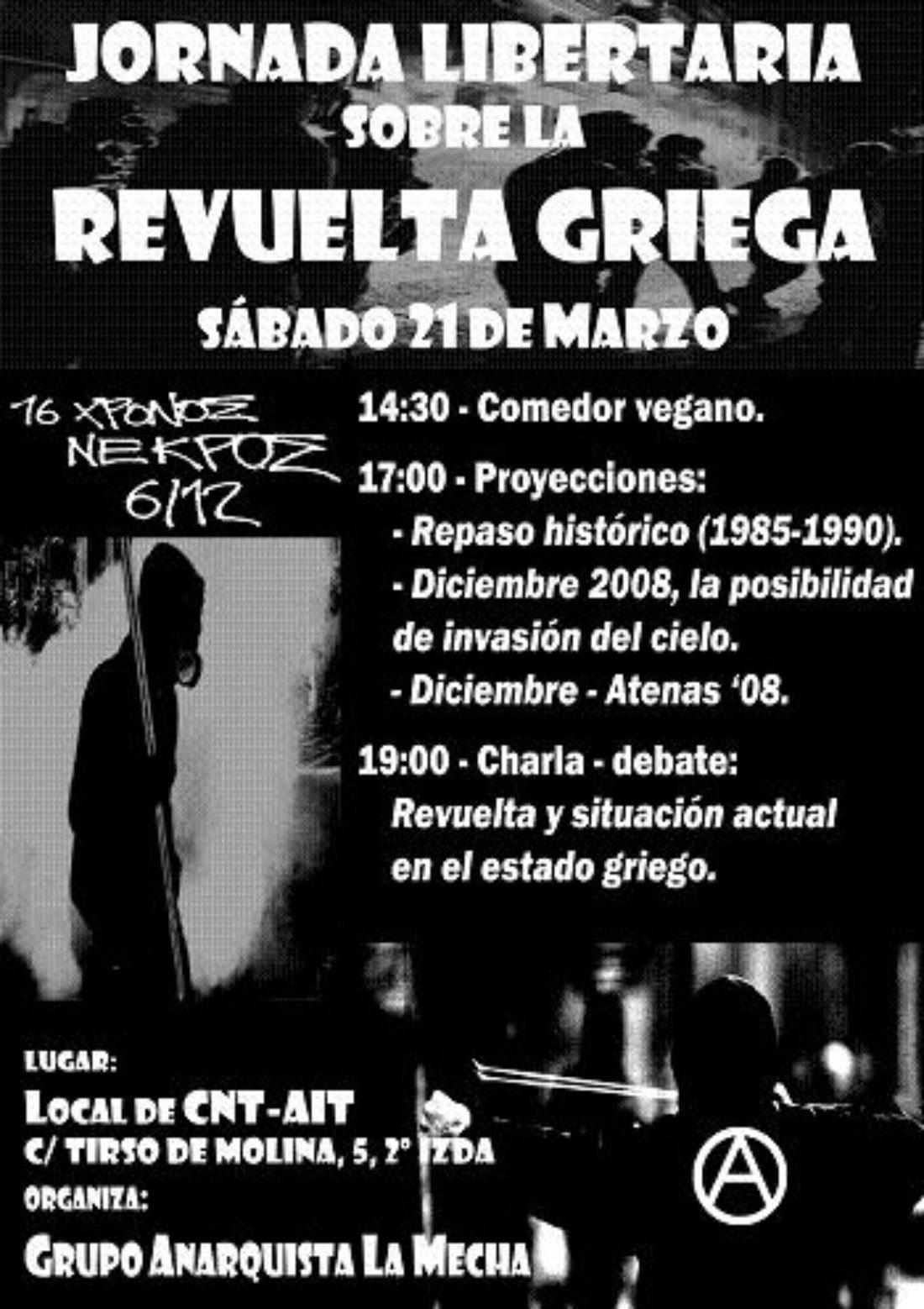 [Madrid] Jornada libertaria sobre la revuelta griega