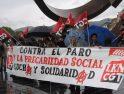 Semana de lucha de CGT: concentración frente al Ayuntamiento de Bilbao esta mañana (galería)