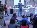 Crónica y fotos de la concentración en solidaridad con Atenco el 4 de mayo en Zaragoza