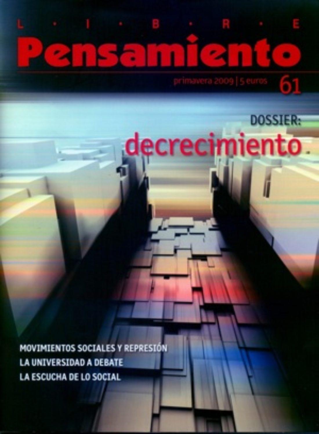 Libre Pensamiento 61 – Primavera 2009