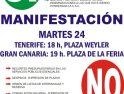 24 noviembre, Tenerife: Manifestación sindical unitaria de la Comunidad Autónoma Canaria