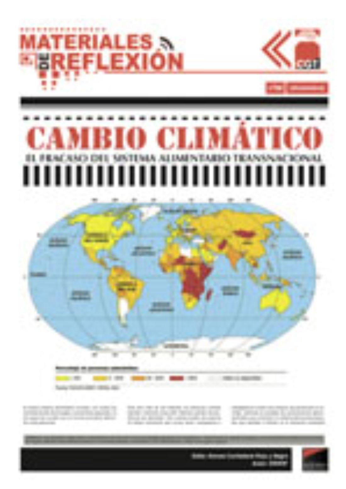 Materiales de Reflexión 68: «Cambio Climático. El fracaso del sistema alimentario transnacional»