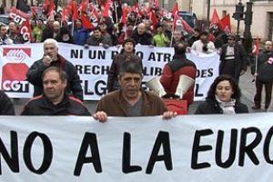 CGT planta cara en La Granja a la Europa del capital