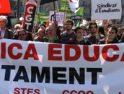 Barcelona: Multitudinaria manifestación contra la política educativa de la Generalitat