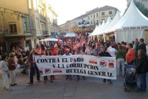 1º de mayo en Segovia: Contra el paro y la corrupción, huelga general
