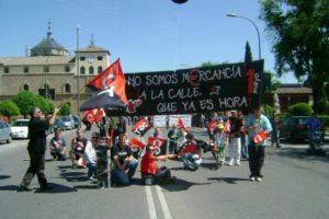 1º de Mayo en Toledo: «¡No somos mercancia!»
